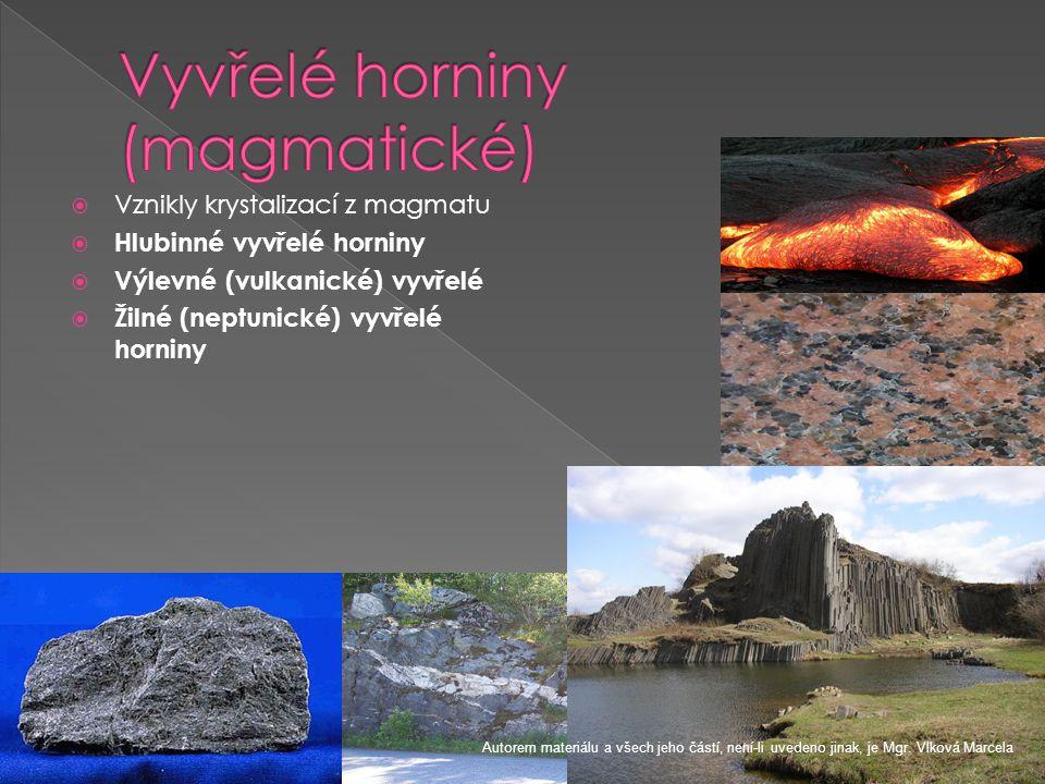 Vyvřelé horniny (magmatické)