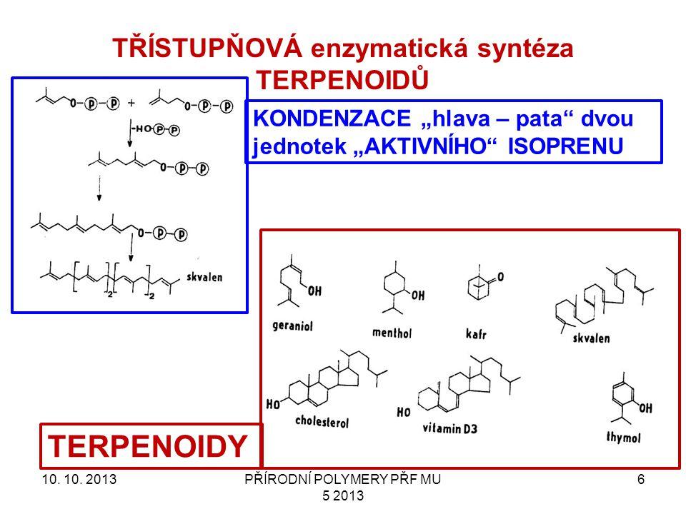 TŘÍSTUPŇOVÁ enzymatická syntéza TERPENOIDŮ