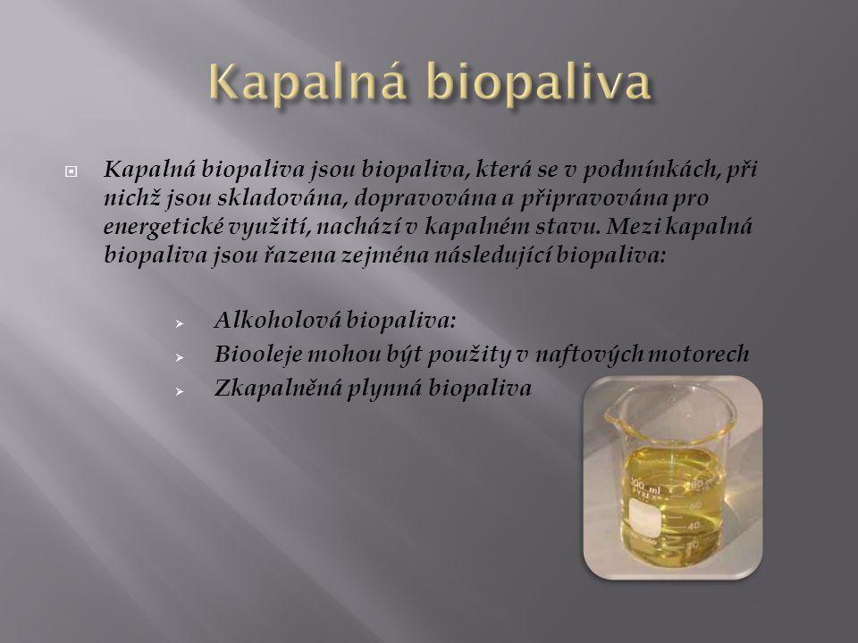 Kapalná biopaliva