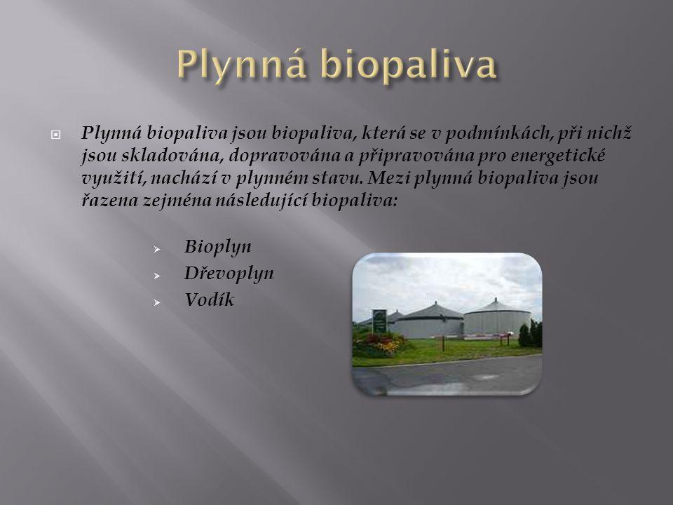 Plynná biopaliva