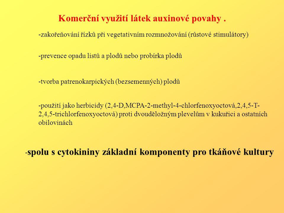 Komerční využití látek auxinové povahy .