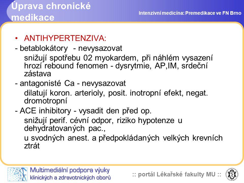 Úprava chronické medikace