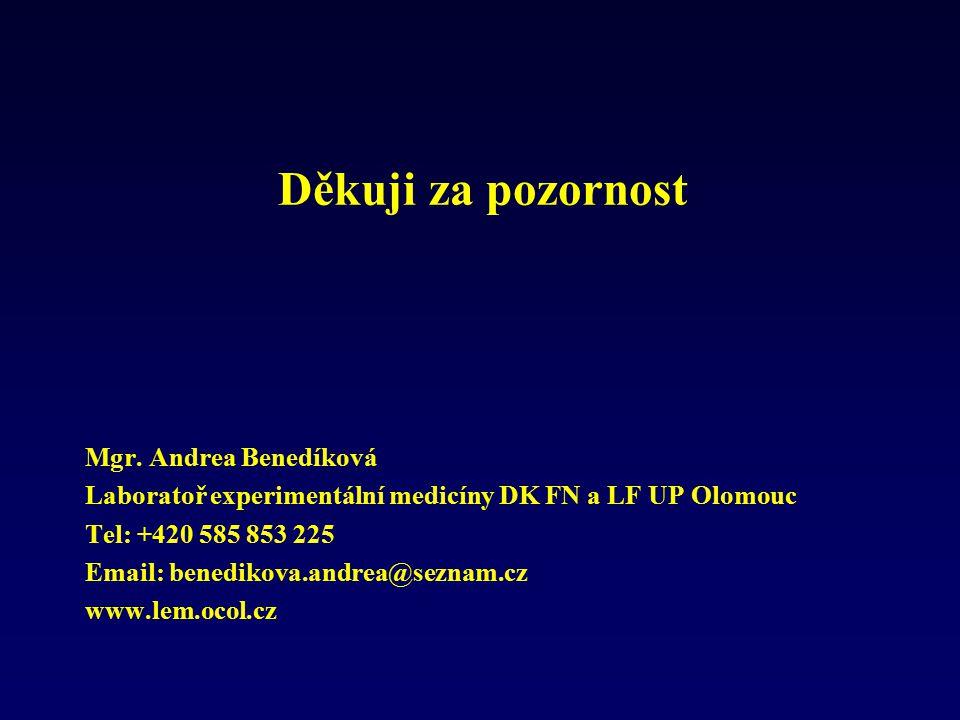 Děkuji za pozornost Mgr. Andrea Benedíková