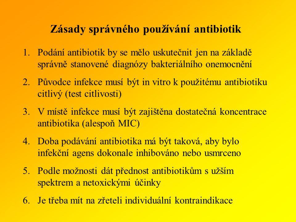 Zásady správného používání antibiotik