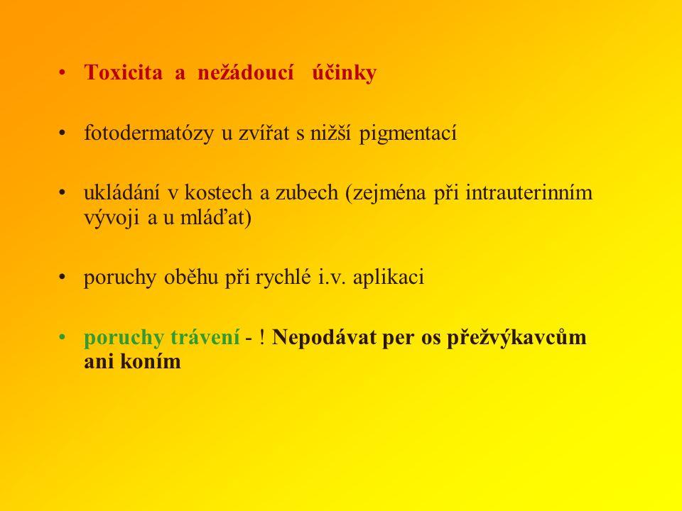 Toxicita a nežádoucí účinky