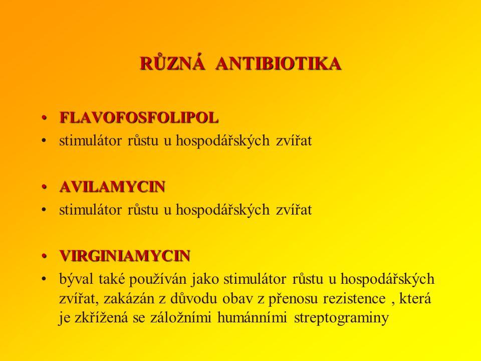 RŮZNÁ ANTIBIOTIKA FLAVOFOSFOLIPOL