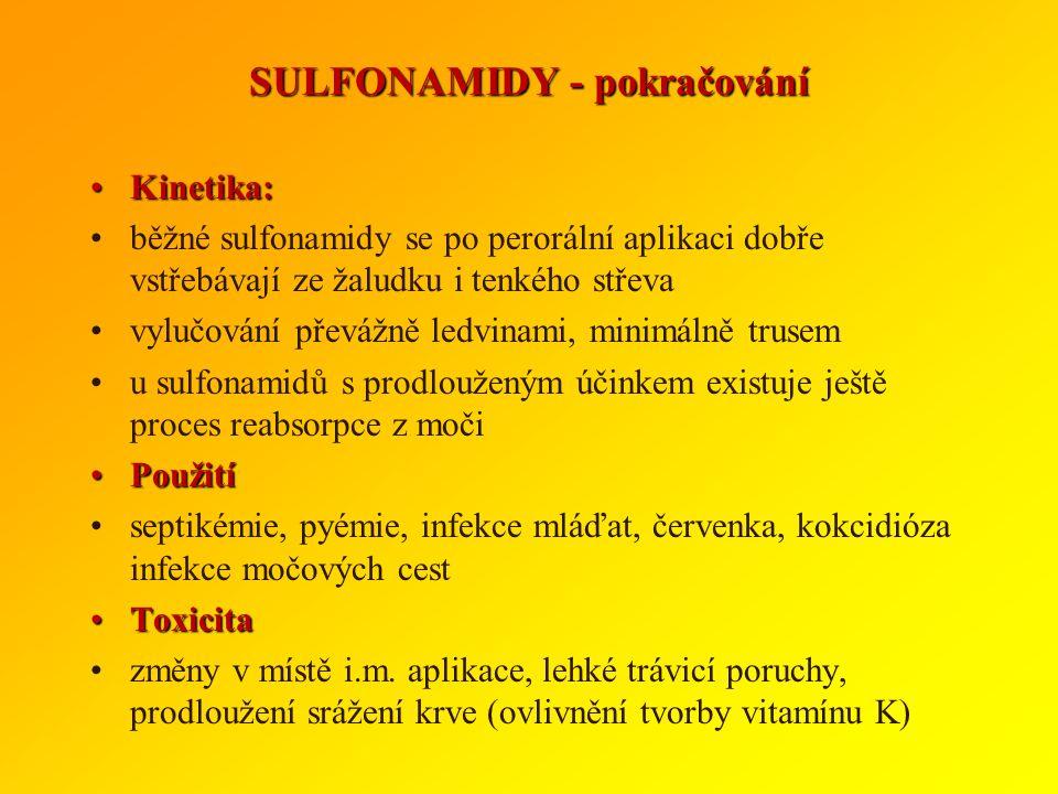 SULFONAMIDY - pokračování