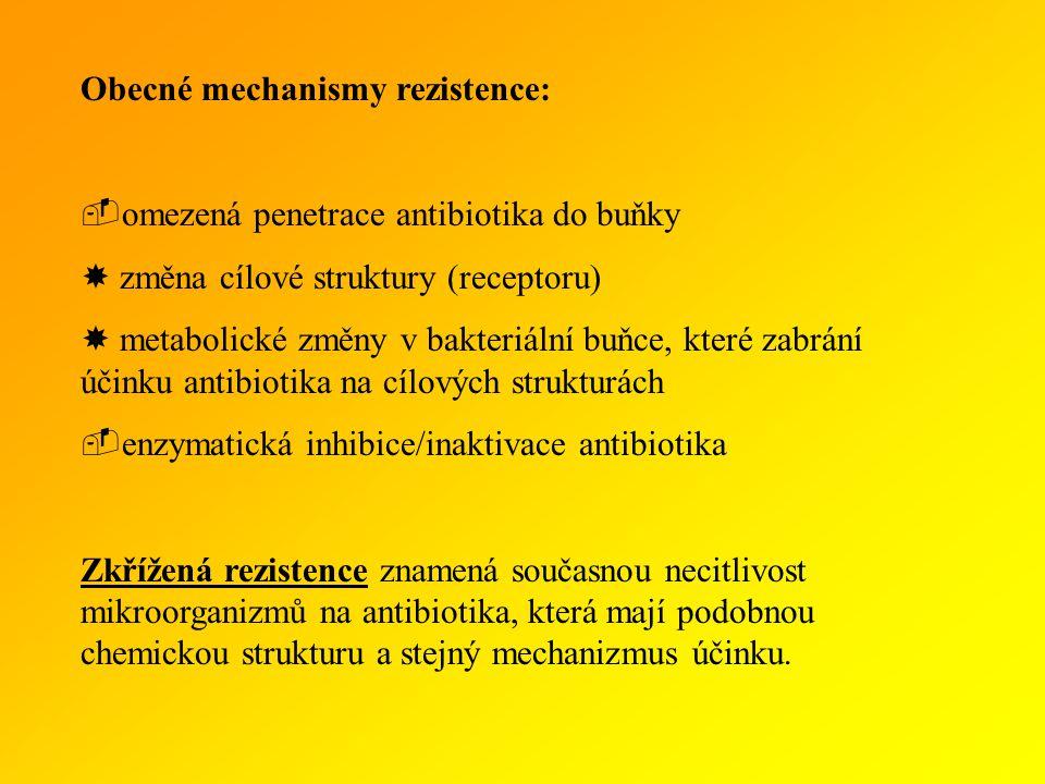Obecné mechanismy rezistence: