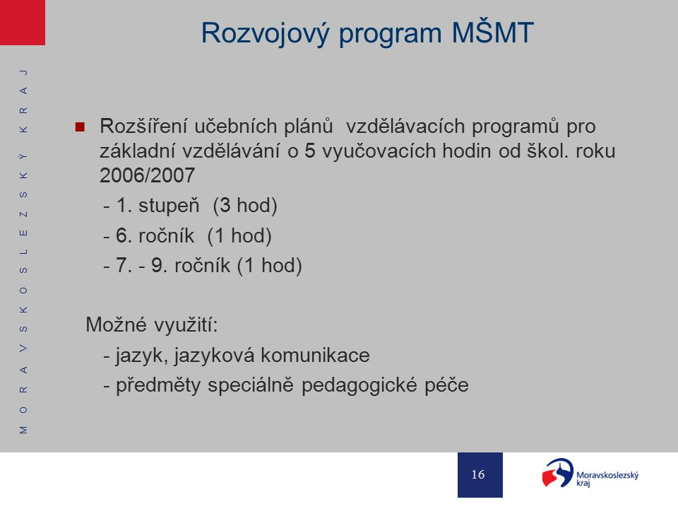 Rozvojový program MŠMT