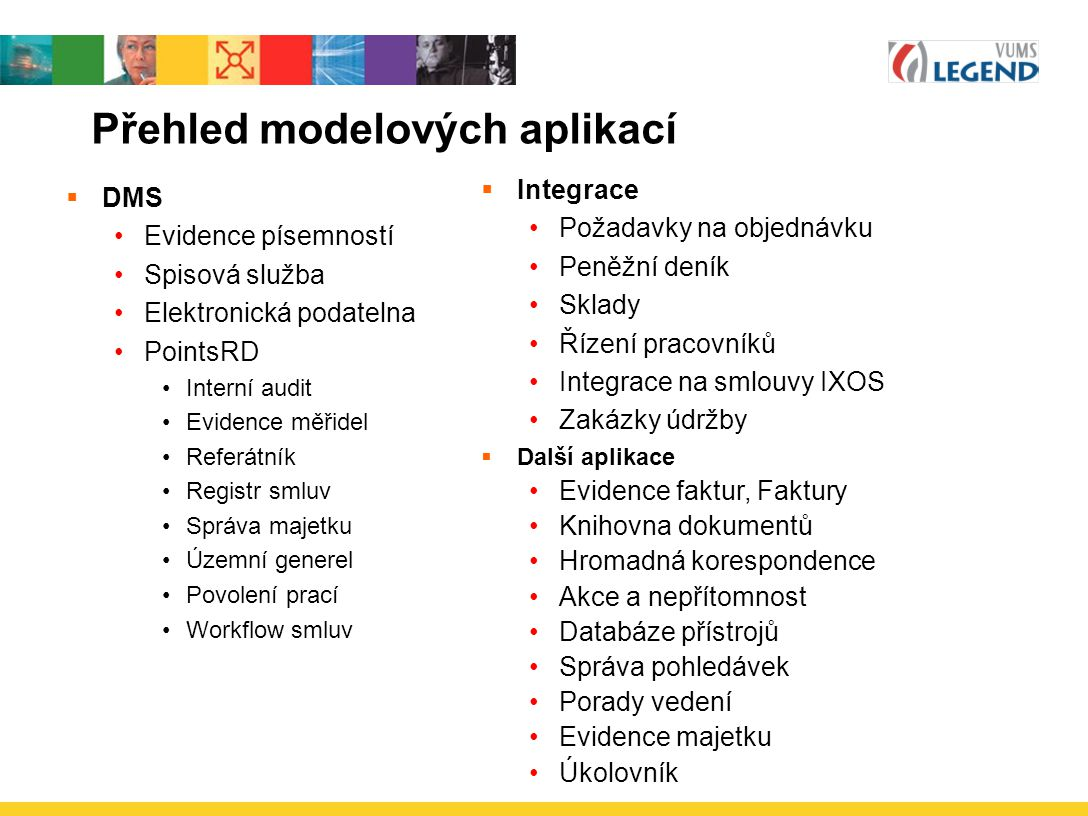 Přehled modelových aplikací