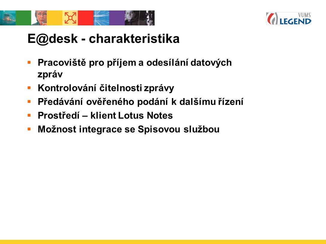 E@desk - charakteristika