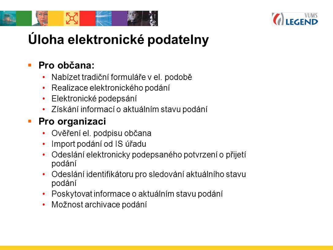 Úloha elektronické podatelny