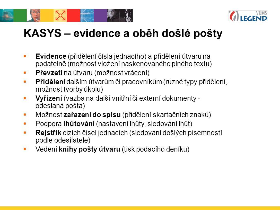 KASYS – evidence a oběh došlé pošty