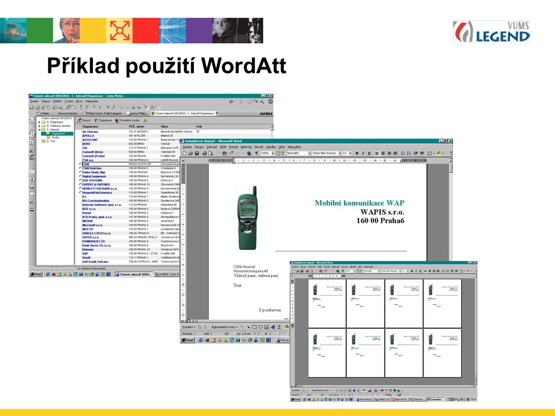 Příklad použití WordAtt