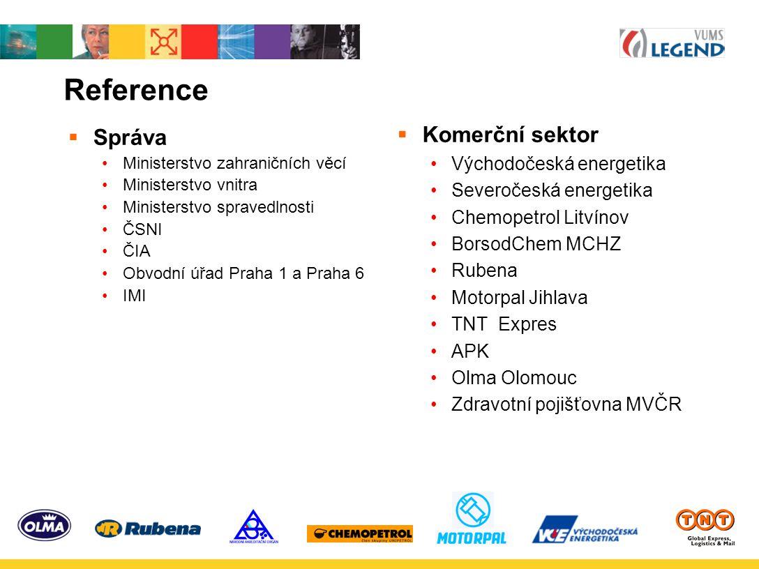 Reference Komerční sektor Správa Východočeská energetika