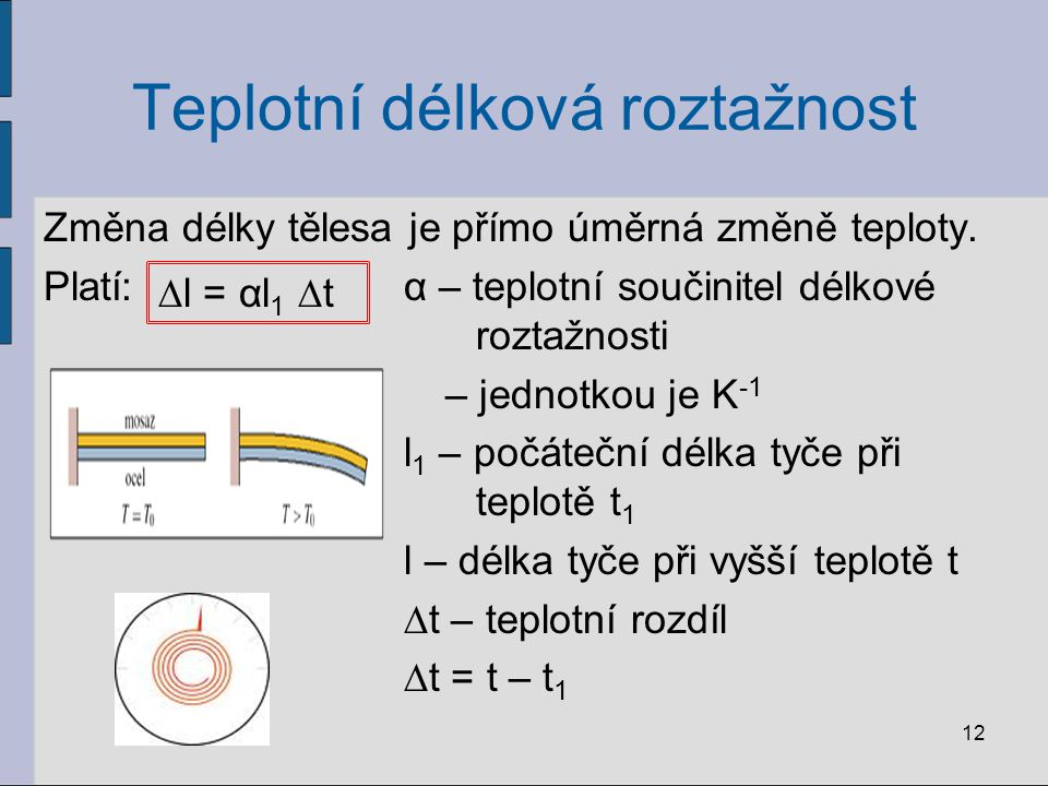 Teplotní délková roztažnost