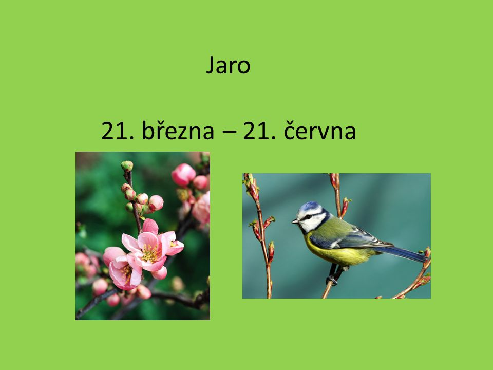 Jaro 21. března – 21. června