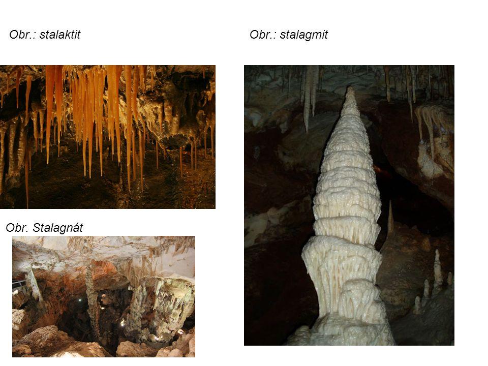 Obr.: stalaktit Obr.: stalagmit