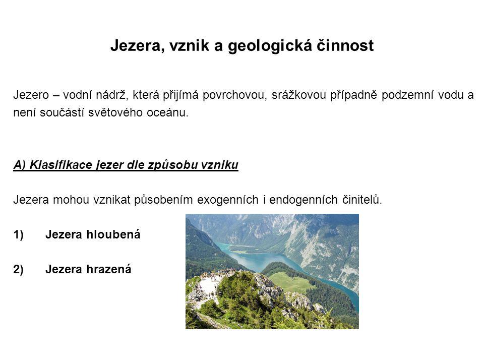 Jezera, vznik a geologická činnost