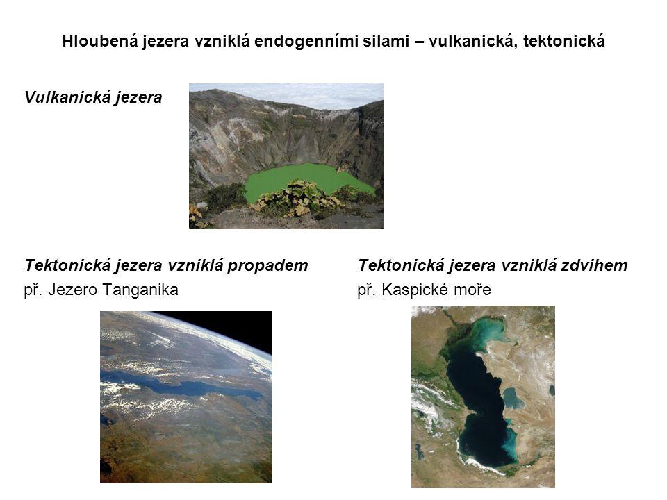 Hloubená jezera vzniklá endogenními silami – vulkanická, tektonická