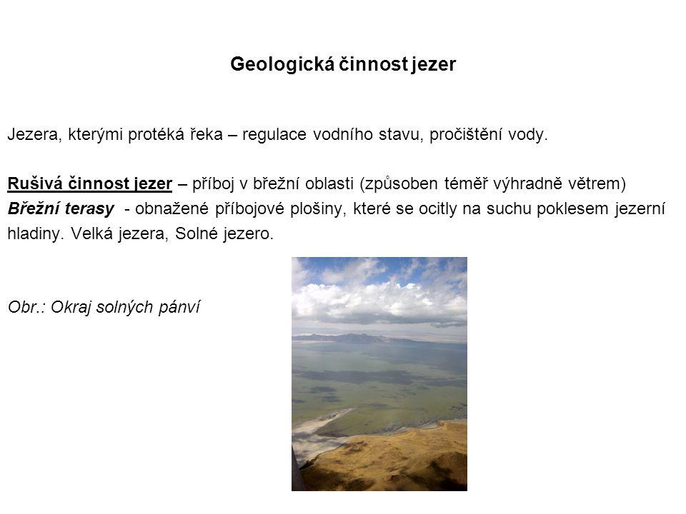 Geologická činnost jezer
