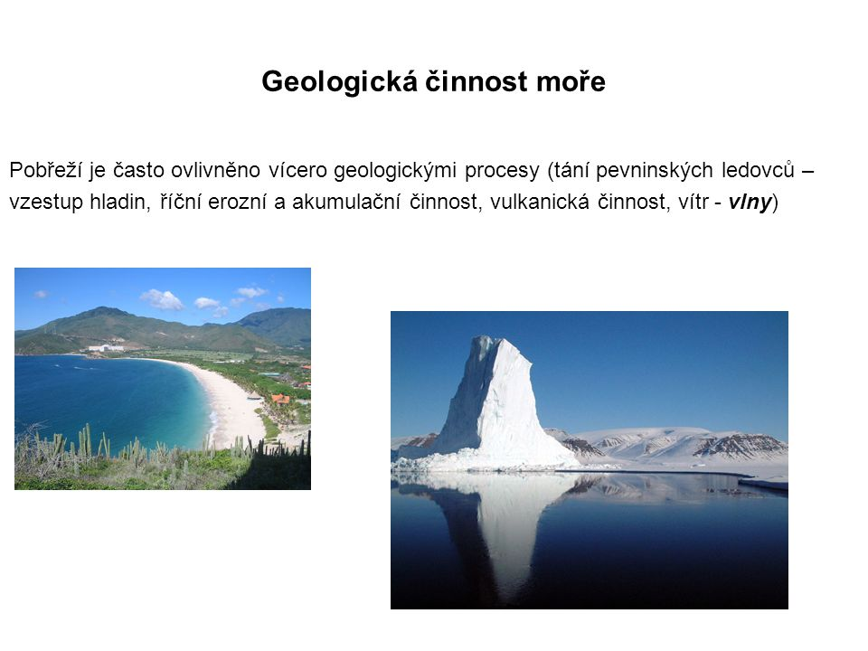 Geologická činnost moře
