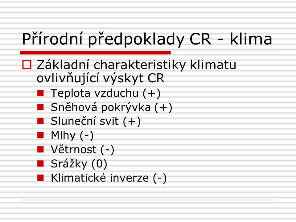 Přírodní předpoklady CR - klima