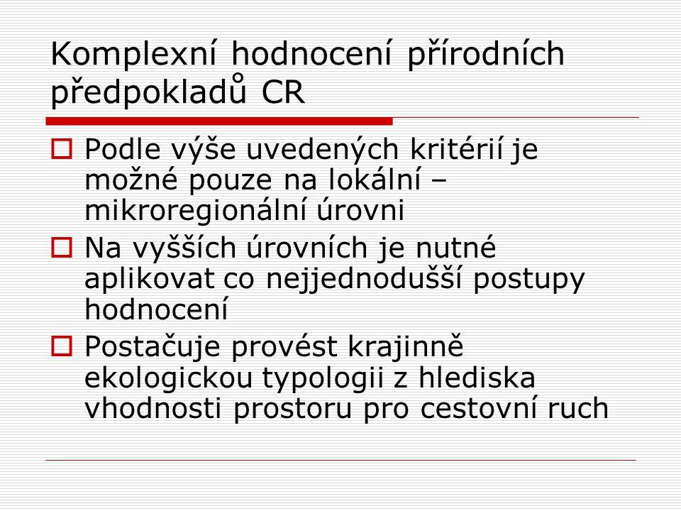 Komplexní hodnocení přírodních předpokladů CR