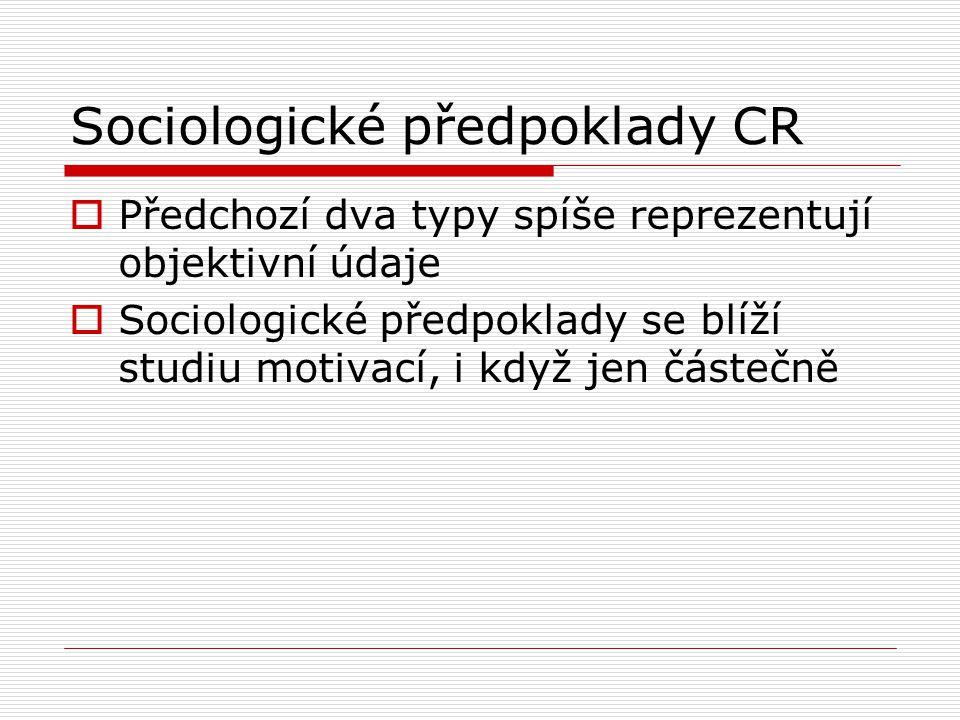 Sociologické předpoklady CR