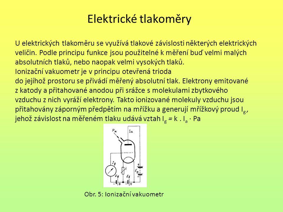 Elektrické tlakoměry