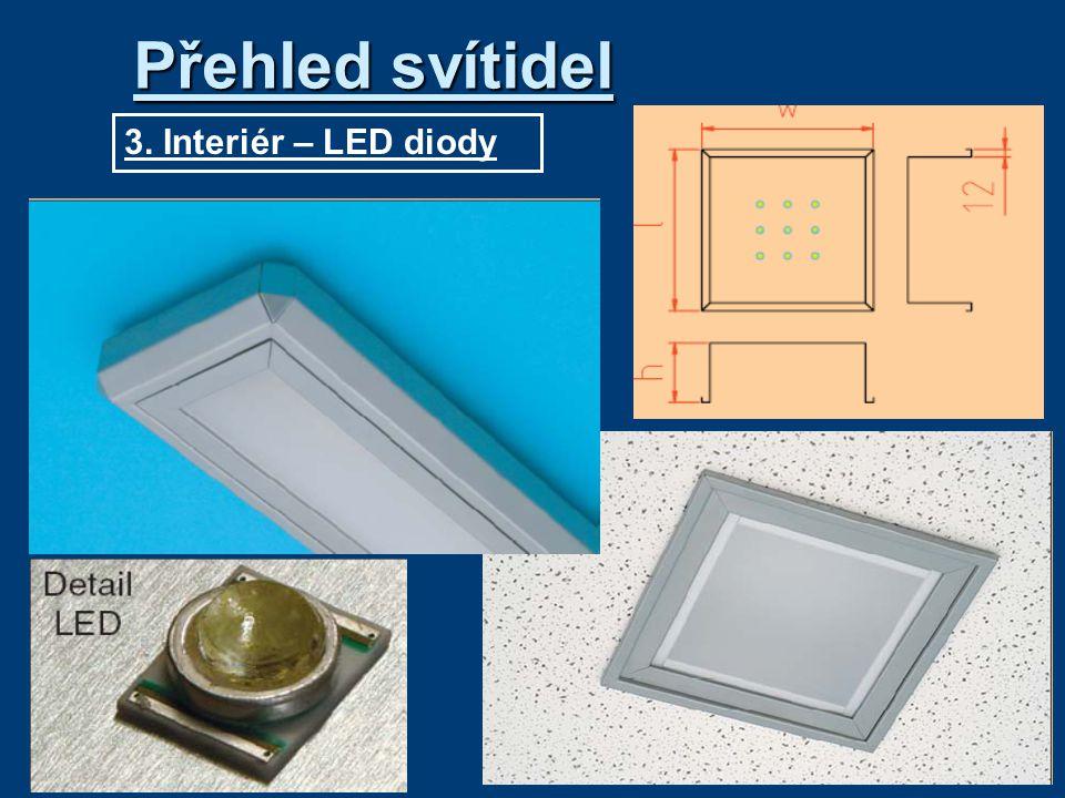 Přehled svítidel 3. Interiér – LED diody