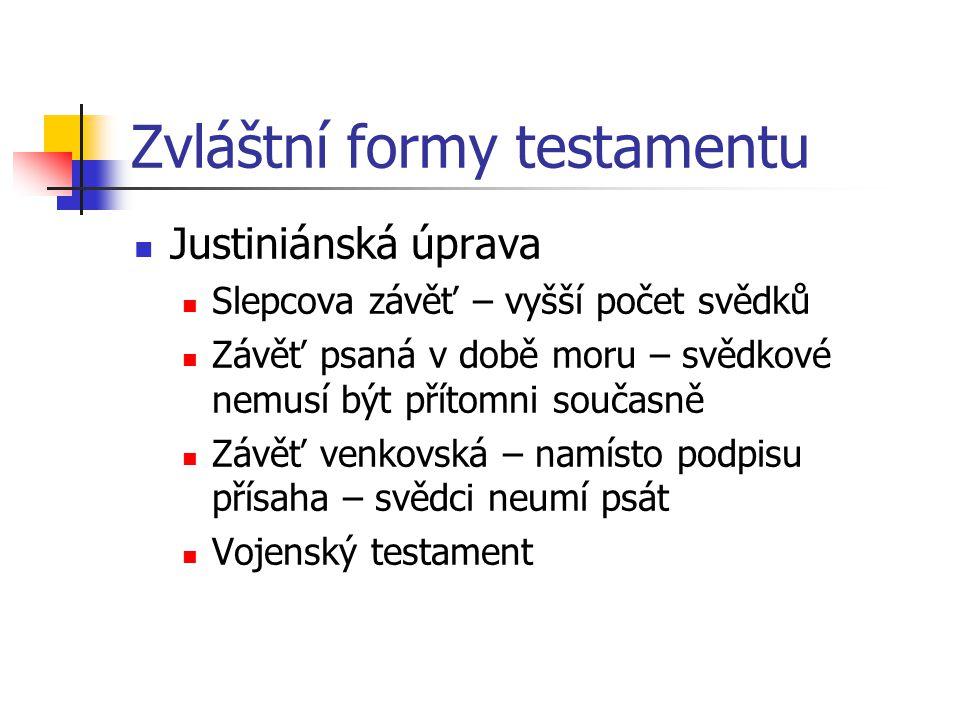 Zvláštní formy testamentu