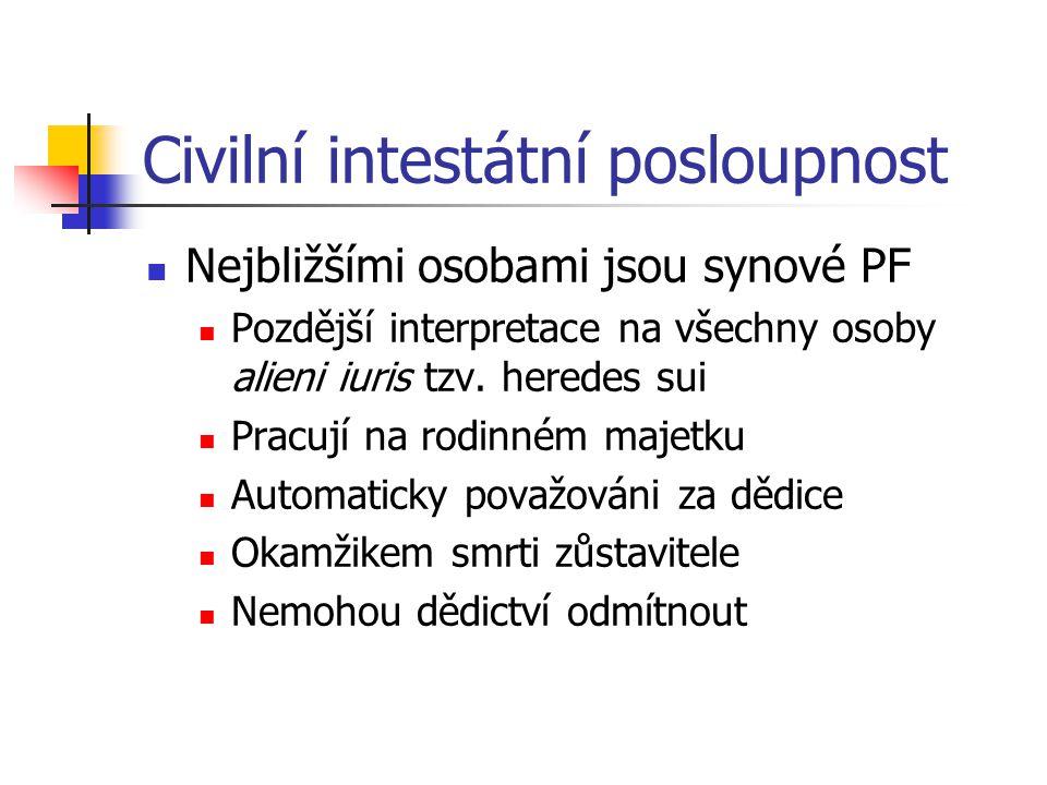 Civilní intestátní posloupnost