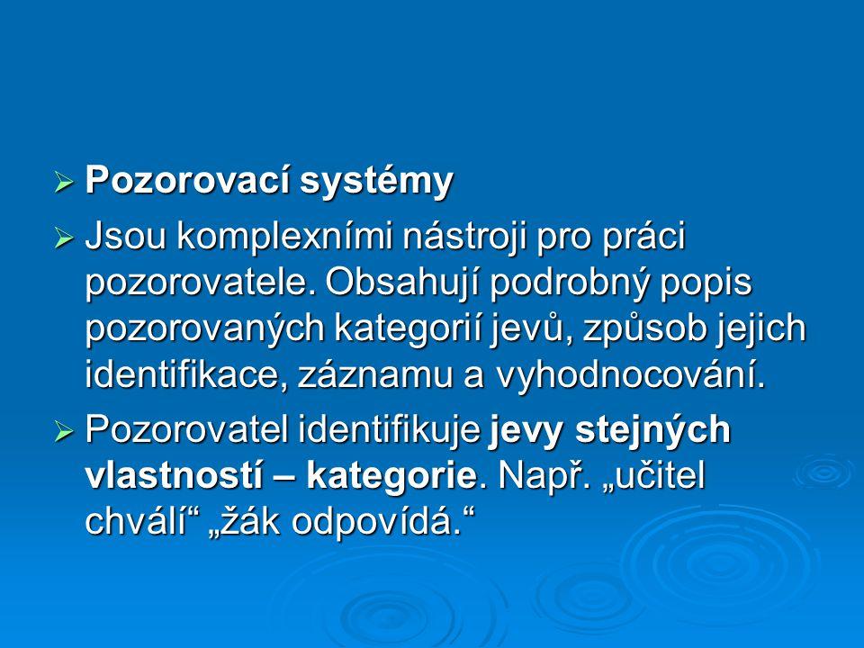 Pozorovací systémy