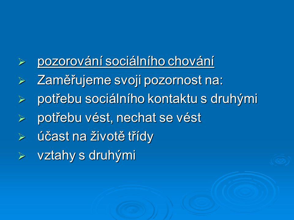pozorování sociálního chování