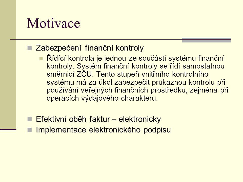 Motivace Zabezpečení finanční kontroly
