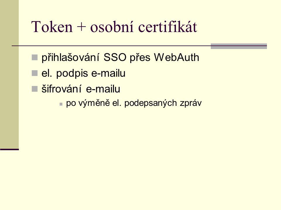 Token + osobní certifikát