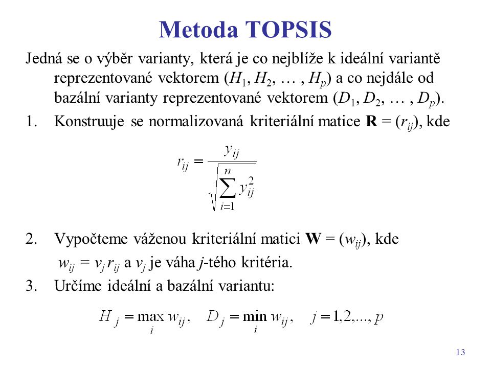 Metoda TOPSIS