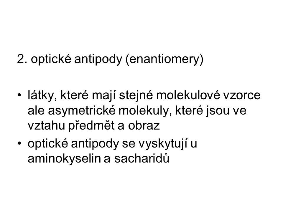 2. optické antipody (enantiomery)