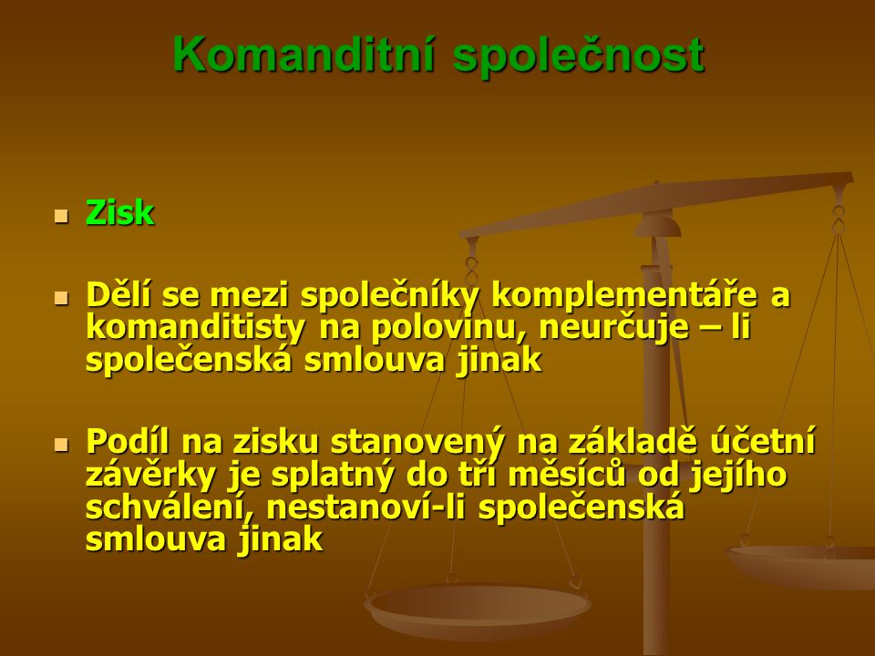 Komanditní společnost
