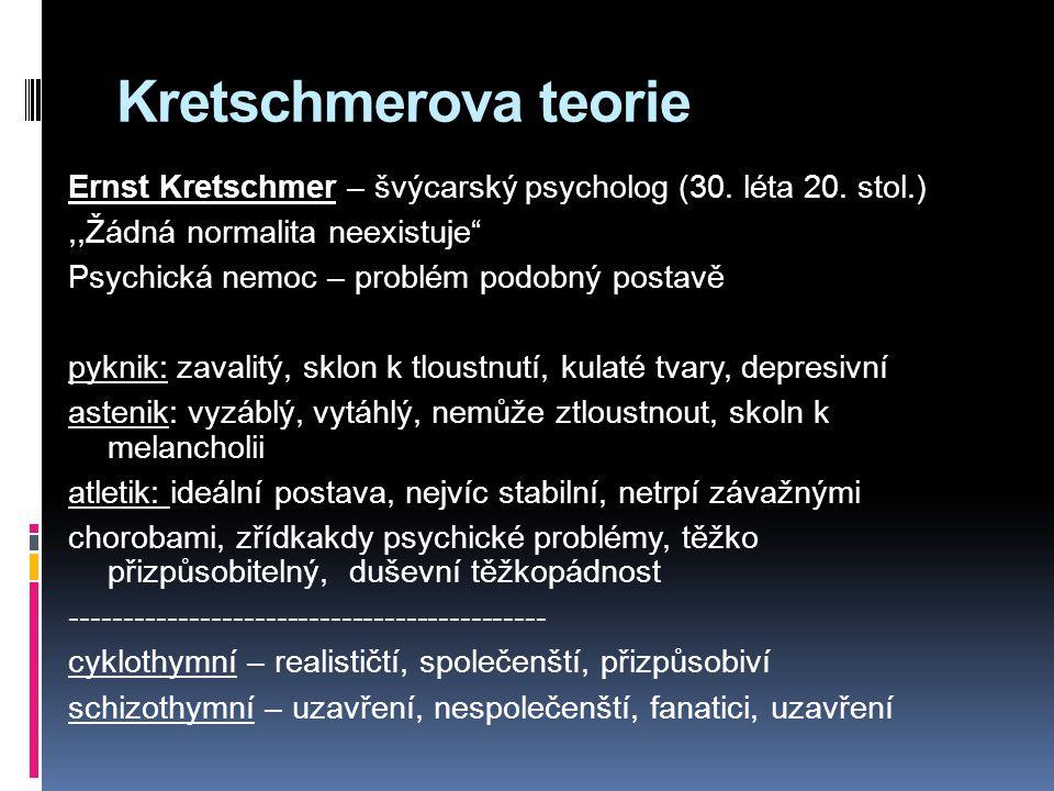 Kretschmerova teorie