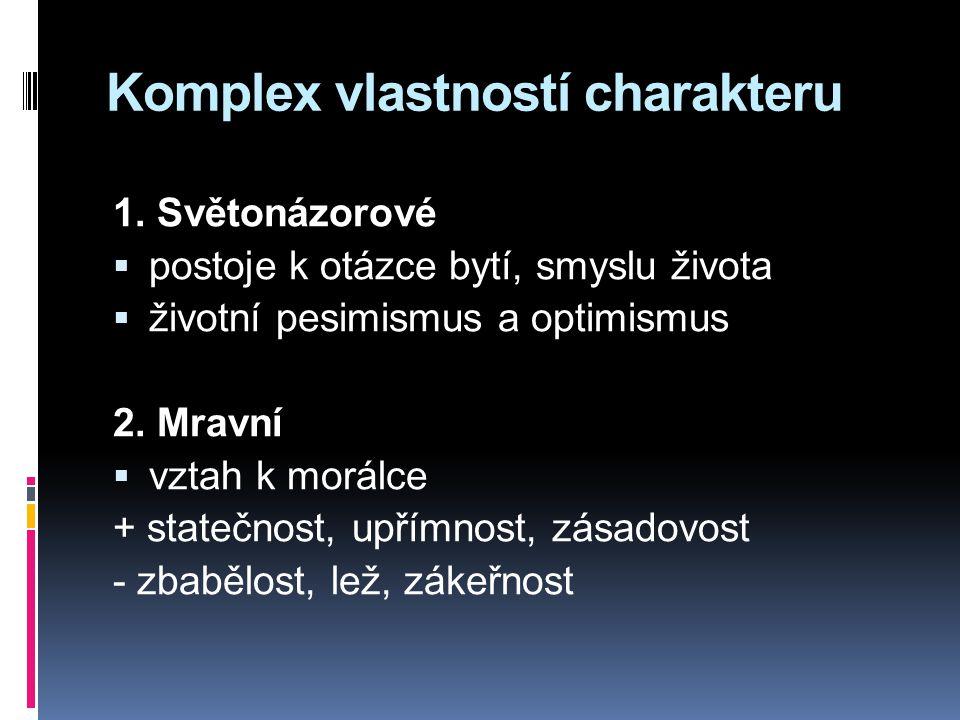 Komplex vlastností charakteru