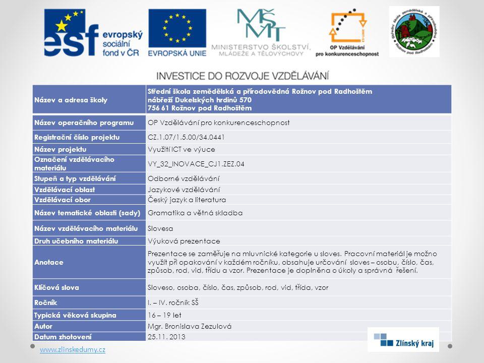 www.zlinskedumy.cz Název a adresa školy