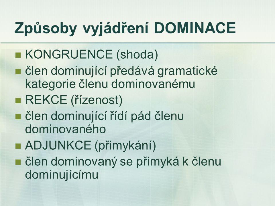 Způsoby vyjádření DOMINACE