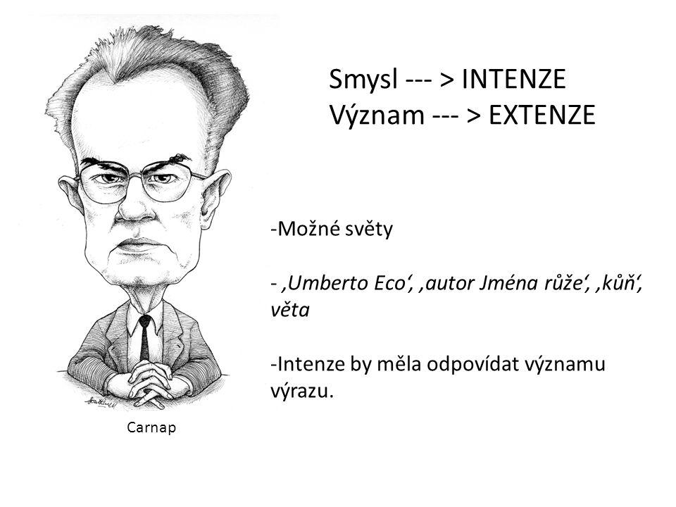 Význam --- > EXTENZE