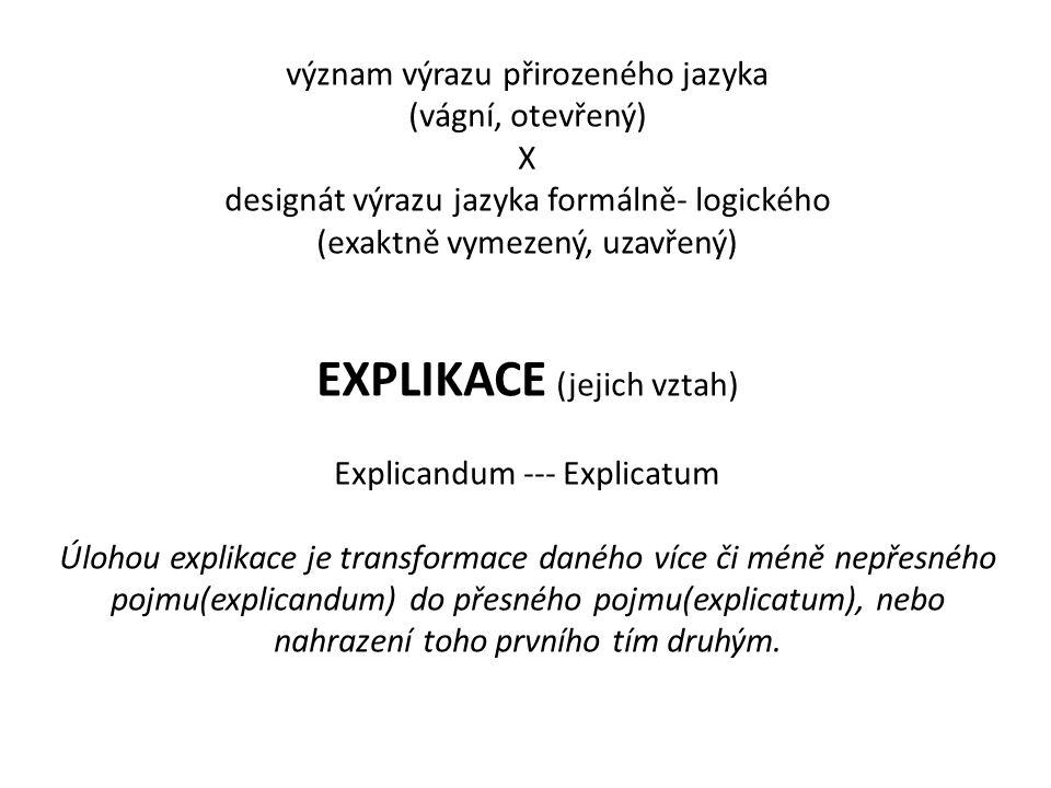 EXPLIKACE (jejich vztah)
