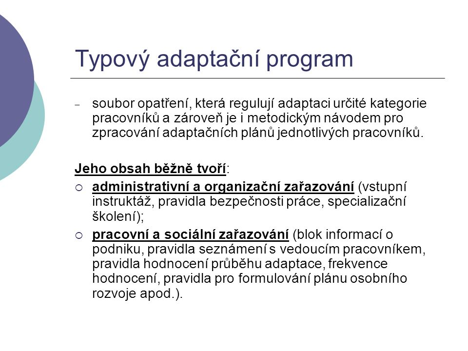 Typový adaptační program
