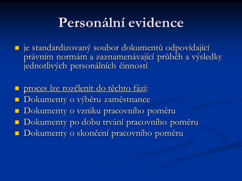 Personální evidence