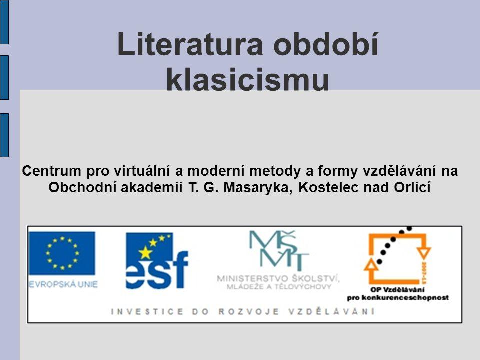 Literatura období klasicismu