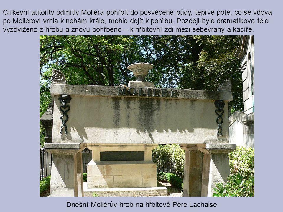Dnešní Molièrův hrob na hřbitově Père Lachaise